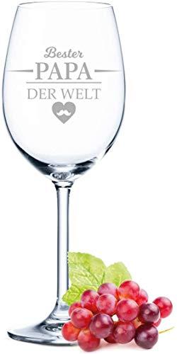 Leonardo Weinglas mit Gravur - Bester Papa der Welt - Geschenk für Papa ideal als Vatertagsgeschenk 0,5l Weißweinglas Rotweinglas als Geburtstagsgeschenk für Männer