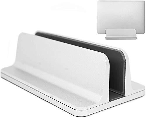 MyGadget Laptop Ständer Aluminium [Hochkant] - Verstellbare Stand Halterung für Notebooks wie z.B. Apple MacBook, Google Chromebook, Lenovo - Silber