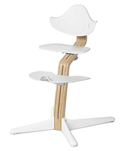 NOMI highchair Hochstuhl Eiche Weiß mit Weiß