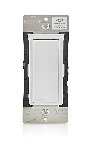 Leviton DH15S-1BZ 15A Decora Smart Switch, Works with Apple HomeKit,White