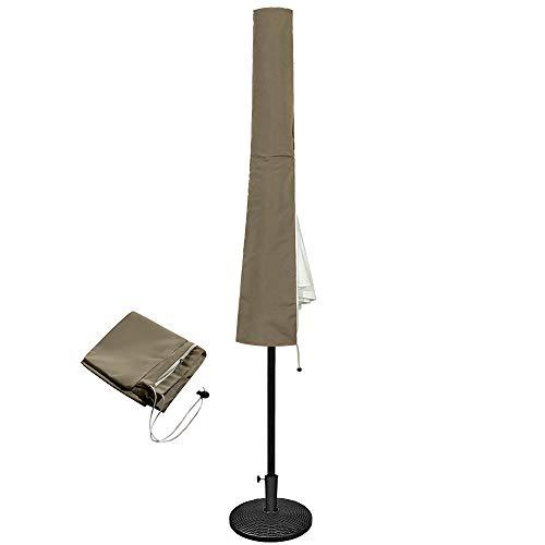 Aufun Sonnenschirm Schutzhülle für Ø 300 cm Sonnenschirm, 100% Polyester Schirmhülle mit Reißverschluss Wasserdicht , Khaki