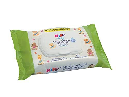 Hipp Baby - Carta Igienica Umidificata Per Neonati, Pelli Normali E Sensibili, 6 Confezioni da 50 Salviettine - 4321.7 ml