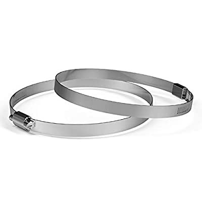 AC Infinity Stainless Steel Duct Clamps, 6-Inch (Pack of 2) for Ducting, Heating, Cooling, Exhaust, Ventilation