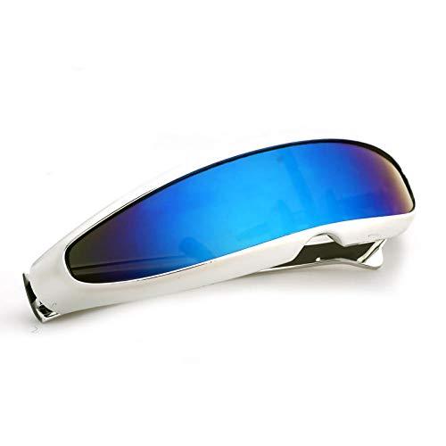 WQZYY&ASDCD Gafas de Sol Gafas De Sol De Cíclope Estrechas Vintage para Mujer, Lujosas Gafas De Personalidad, Nuevas Gafas De Moda,DecoraciónDivertida,Gafas De Sol para Hombre-3