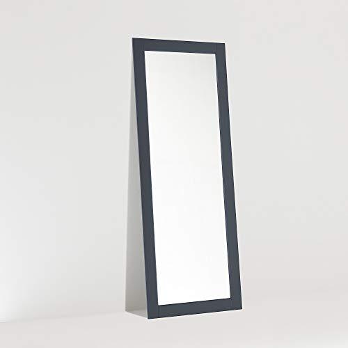 ARHome Espejo de suelo, 160 x 60 cm, azul noche, espejo de pared, fabricado en Italia