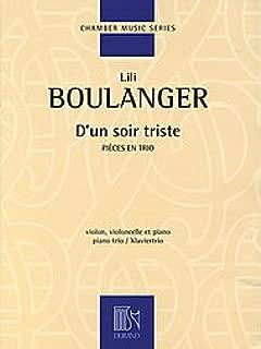 D'un soir triste Piano Trio Score and Parts