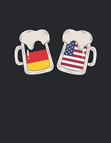 Bier Tasting Buch: Dein persönliches Verkostungsbuch zum selber ausfüllen ♦ für über 100 verschiedene Bier Sorten, Craft Beer, Pils, Pale Ale oder IPA ... A4+ Format ♦ Motiv: Deutsch Amerika Bier