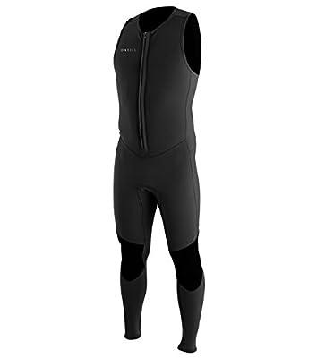 O'Neill Men's Reactor-2 2mm Front Zip Sleeveless Full Wetsuit, Black/Black, L