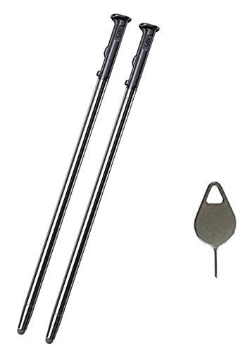 2PCS Real Stylo 5 Pen Touch Pen Replacement Part for LG Stylo 5 / Stylo 5+ Q720AM Q720VS Q720MS Q720PS Q720CS Q720MA LCD Touch Pen Stylus Pen + Eject Pin (2PCS Pen/Black)
