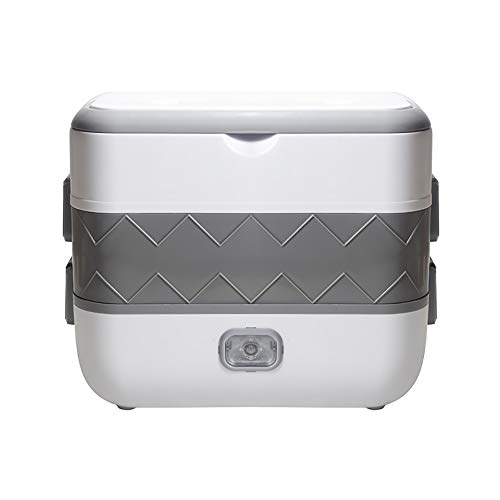 JAYI Bento Boxes, Multi-Function Rice Cooker Ceramic Liner Electric Lunch Box Insulation Heating Personal Cooking Appliances Thermal Cooker 220V