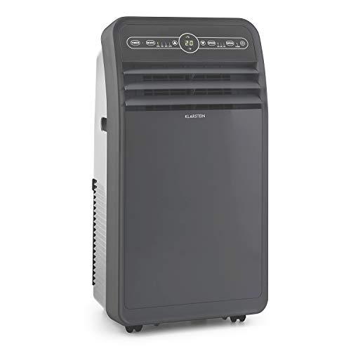 KLARSTEIN Metrobreeze New York - Climatiseur Mobile, Déshumidificateur, Ventilateur, Minuterie programmable, Température réglable 17-30°C, Télécommande, 7000BTU/h - Noir