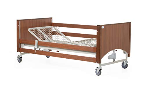 Hospital Bed Package - Lomond Standard Bed Plus Mattress Choice - Foam or Air - Delivered & Installed (Foam Mattress, Walnut)