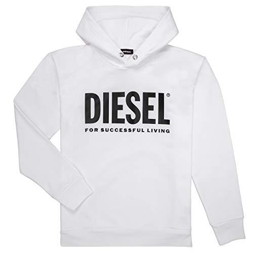 Diesel Sdivision Logo Sweatshirts Und Fleecejacken Jungen Weiss - 16 Ans (16 Jahre) - Sweatshirts Sweater
