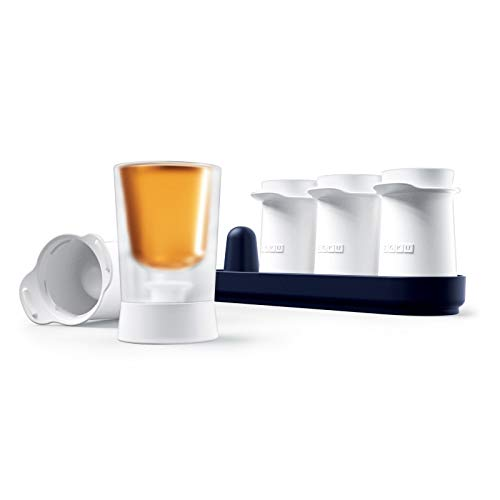 Zoku Shooter Ice Molds, Makes 4 Ice Shot Glasses, Protective Base Keeps Hands Dry, 1-Fluid Ounce Each, Easy-Release, BPA and Phthalate-Free