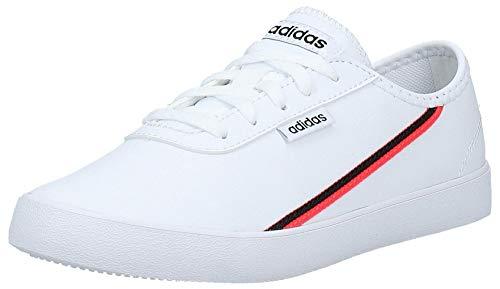 adidas Courtflash X, Zapatos de Tenis Mujer, FTWR White Shock Red Core Black, 38 EU