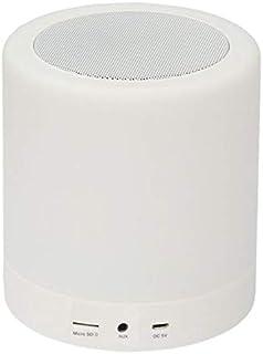 Touch Lamp Portable Speaker Music Player Romantic LED Bluetooth Speaker Light - White