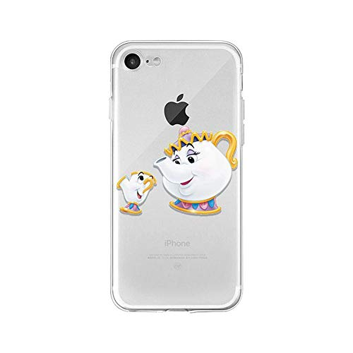 LXXTK Beauty And Beast Belle Princess TPU Soft Cover iPhone Cover A13 for Cover iPhone 7 Plus/Cover iPhone 8 Plus