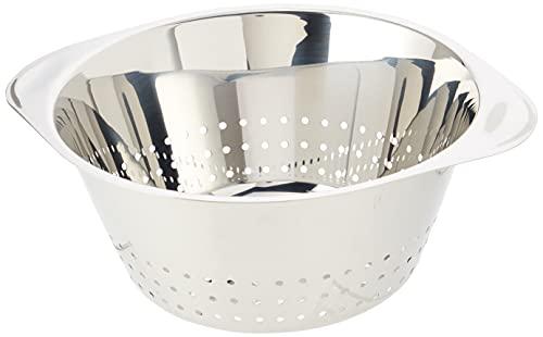 WMF Gourmet Sieb Edelstahl 24 cm, Seiher mit großen Löchern, Nudelsieb, Küchensieb, Cromargan Edelstahl, spülmaschinengeeignet