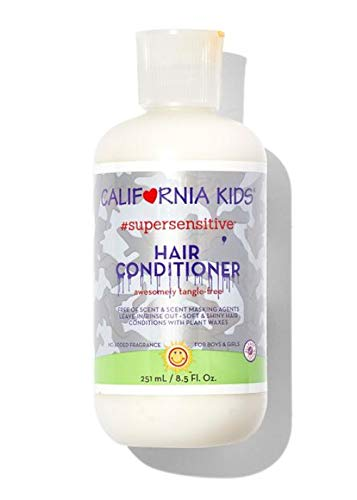 California Baby Super Sensitive Hair Conditioner (8.5 ounces). Perfect for Anyone with Sensitive Skin. This Scalp-Friendly Conditioner is Free of Added Fragrance, Common Allergens and Irritants