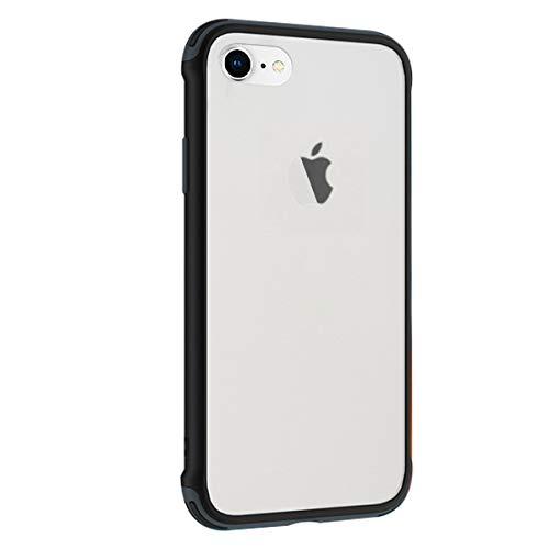 Rdyi6ba8 Cover per iPhone 6 / 6s, Protezione della Fotocamera Case Ultra Sottile Antiurto Opaco PC e TPU Silicone Bumper Cover per iPhone 6 / 6s - Nero