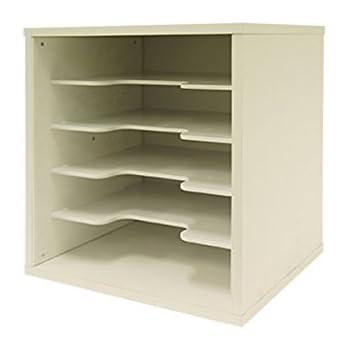 キューブボックスα 横仕切りタイプ カラーボックス キューブボックス 仕切り付き 教科書ラック (ホワイト) CBA-RACY