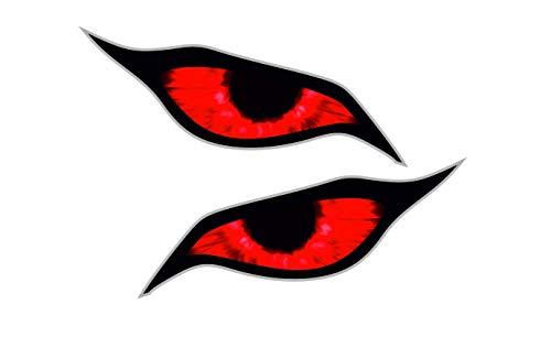 Paar Red Demon Evil Eyes Eye Design voor Motorhelm Drone etc. Externe Vinyl Auto Sticker Decal 70x30mm Elk
