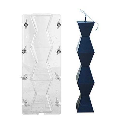 Eventualx Long Wave Candle Mould,geometric Pillar Candle Mould,Pillar Candle Mould Can Be Used For Many Times,easy To Clean,withstand High And Low Temperatures.