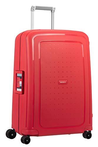 Samsonite S'Cure - Spinner M Koffer, 69 cm, 79 L, rot (capri red stripes)
