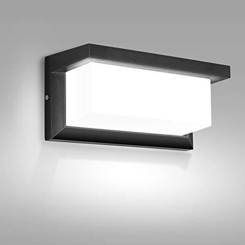 Apliques Pared LED Exterior, MICUTU 18W IP65 Impermeable Apliques Exterior, Lampara Exterior Pared Modernos, para Decoracion Pared Exterior, Balcón, Jardín, Porche, Camino, Patio (Blanco Frío)