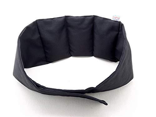 PERFECT PILLOW LTD – varmbälte, vitväska, svart, idealisk för nedre baksida, med väsentlig olja direkt från BRITANNISK tillverkare – storlek upp till 96 cm vänster – alla storlekar som görs för att beställa.