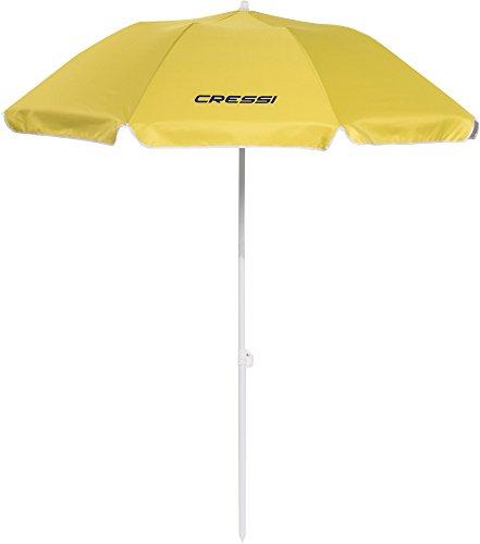 Cressi Umbrella Beach Sonnenschirm, Gelb (mit Schutzhülle), One Size