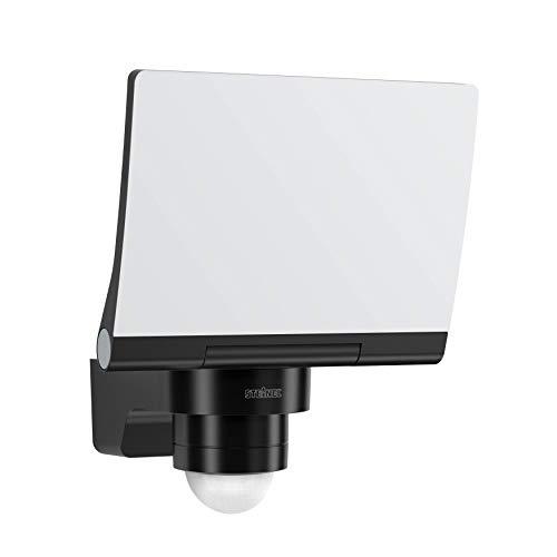 Steinel LED Strahler XLED PRO 240 V2 Schwarz, 20 W Flutlicht, 240° Bewegungsmelder, 3000K warmweiß, inkl. Eckwandhalter