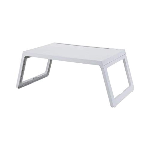 ZLININ Y-Longhair Laptop Nachttisch aus Kunststoff Faltbare bewegliche Stehen Schreibtisch Notebook Fach Boden for Kinder (grau)