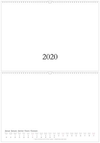 Bastelkalender & Fotokalender 2020 in DIN A3 / A2 - Wandkalender - Querformat/quer - Kreativkalender DIY Do-it-yourself - XL/XXL - weiß (A3)