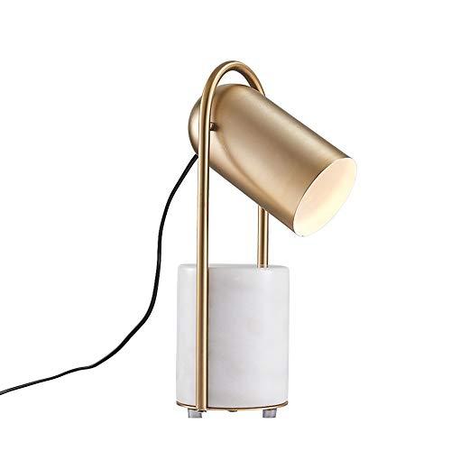 Lampada da Tavolo Nordic Semplice Luce Marmo Metalli Lampada da Comodino Fashion Art Soggiorno Camera da Letto Studio Decorativo Lampada da Tavolo Decorazioni per la Casa