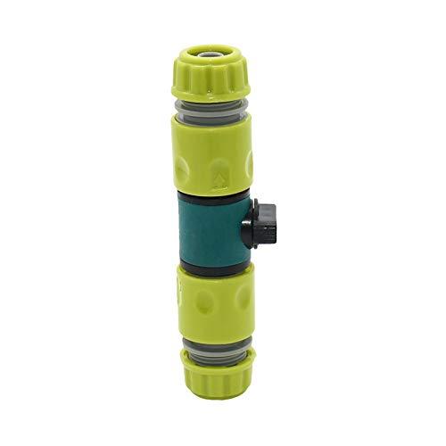 YEZIB Conexión de tubería de Agua 4pcs 1/2' 16 mm de riego Manguera de jardín Conector de la Manguera válvula de riego Recta Adaptador de reparación Conector de Tornillo para jardín (Color : Black)