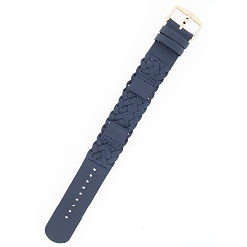 Fossil Reloj Banda Correa Intercambiable LB de es4182 para Banda es4182 Reloj de Pulsera Piel 18 mm, Color Azul