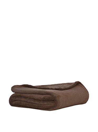 Stilia Manta Coral Suave con Tacto de Terciopelo para Sofá y Cama, 130 x 160 cm, Chocolate
