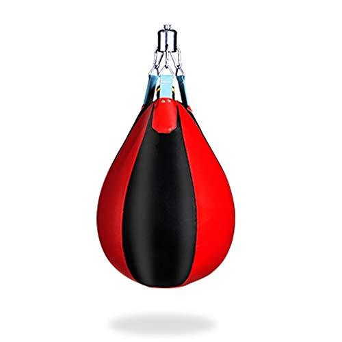 ZoSiP Wasser Schwere Boxen Geschwindigkeits Tasche Wave-H2O Boxsack Raum Leder Wasser Boxsack for Kinder Erwachsene Boxtraining Hängender Schlagbeutel (Color : Black red, Size : 50x36cm)