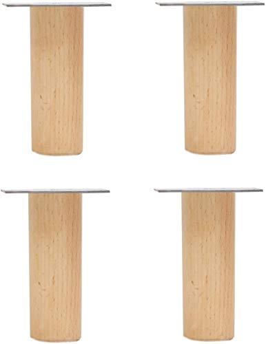 Yubingqin Patas de madera maciza para muebles, patas de apoyo para muebles, patas de repuesto para gabinete, 4 piezas de accesorios (color: B, tamaño: 70 cm)