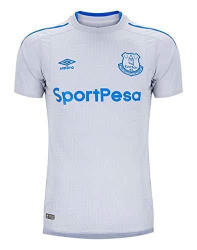 Umbro Mens Everton F.C. Short Sleeve Away Jersey, Grey (Small)
