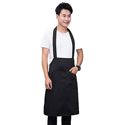 EPOU Grembiule Grembiule da Cuoco Regolabile Impermeabile con Tasche, Occhiali da Cucina alla Moda e Durevole Cucina per Le Donne Chef degli Uomini Grembiule con Tasche