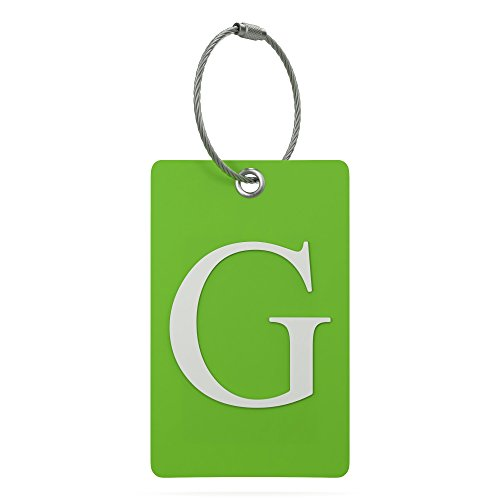 Luggage Tag Initial – Fully Bendable Tag w/Stainless Steel Loop (Letter G)