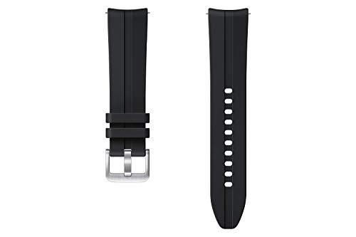 Samsung Ridge Sport Armband ET-SFR85, Uhrenarmband für Galaxy Watch3 mit 20 mm Stegbreite, Sportarmband aus Fluorelastomer in Schwarz