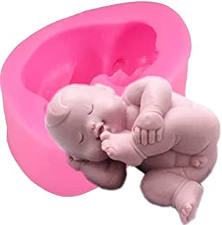S.Han Silicone Sleeping Baby Shower Fondant Moulds Gum Paste Chocolate Mold Cake Decorating Tools Clay Art