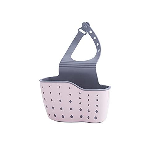 Haoooanhmj Organizador Cocina, Rack de desagüe de la esponja de la esponja del lavamanos, el soporte del grifo del bolso de la bolsa de almacenamiento de silicona, soporte de baño ajustable accesorios
