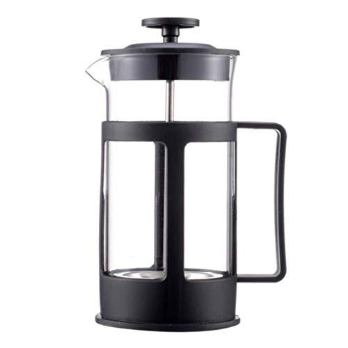 Wanlianer French Press Kaffee- und Teekocher Französisch Presse Kaffeemaschine Press Pot Filter Französisch Kaffeemaschine Einfach Tee-Maschine Filter Küchengeräte (Farbe : Schwarz, Größe : 350ml)