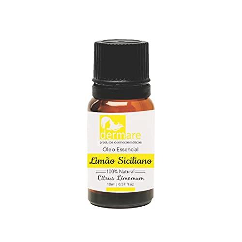 Oleo Essencial de Limão Siciliano, Dermare, Amarelado, 10Ml
