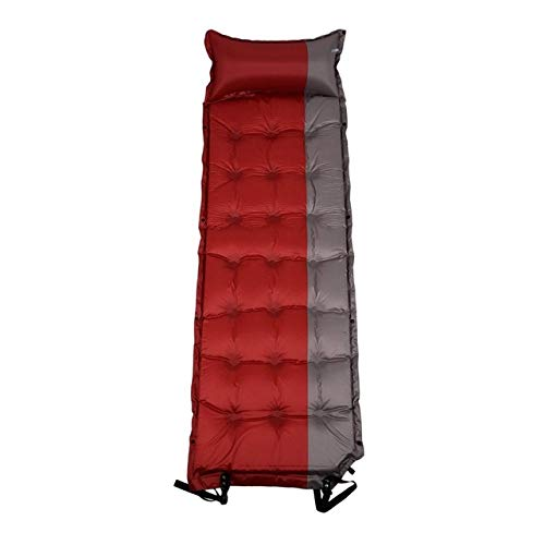 DHUMI Outdoor Beach Camping InflatableMattressThicken Self Gonflable Sleeping MatMoisture-Tent Pad Cushion, Red