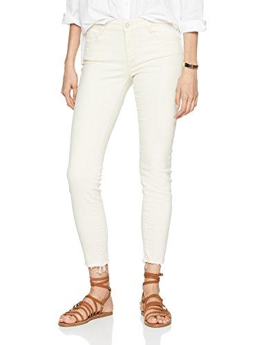 Mavi Damen Skinny Jeans Adriana Ankle, Elfenbein (Ecru Retro Str 24925), W27